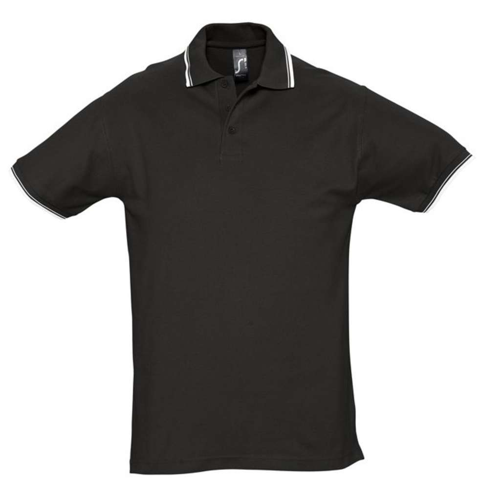 Рубашка поло мужская с контрастной отделкой PRACTICE 270 черная