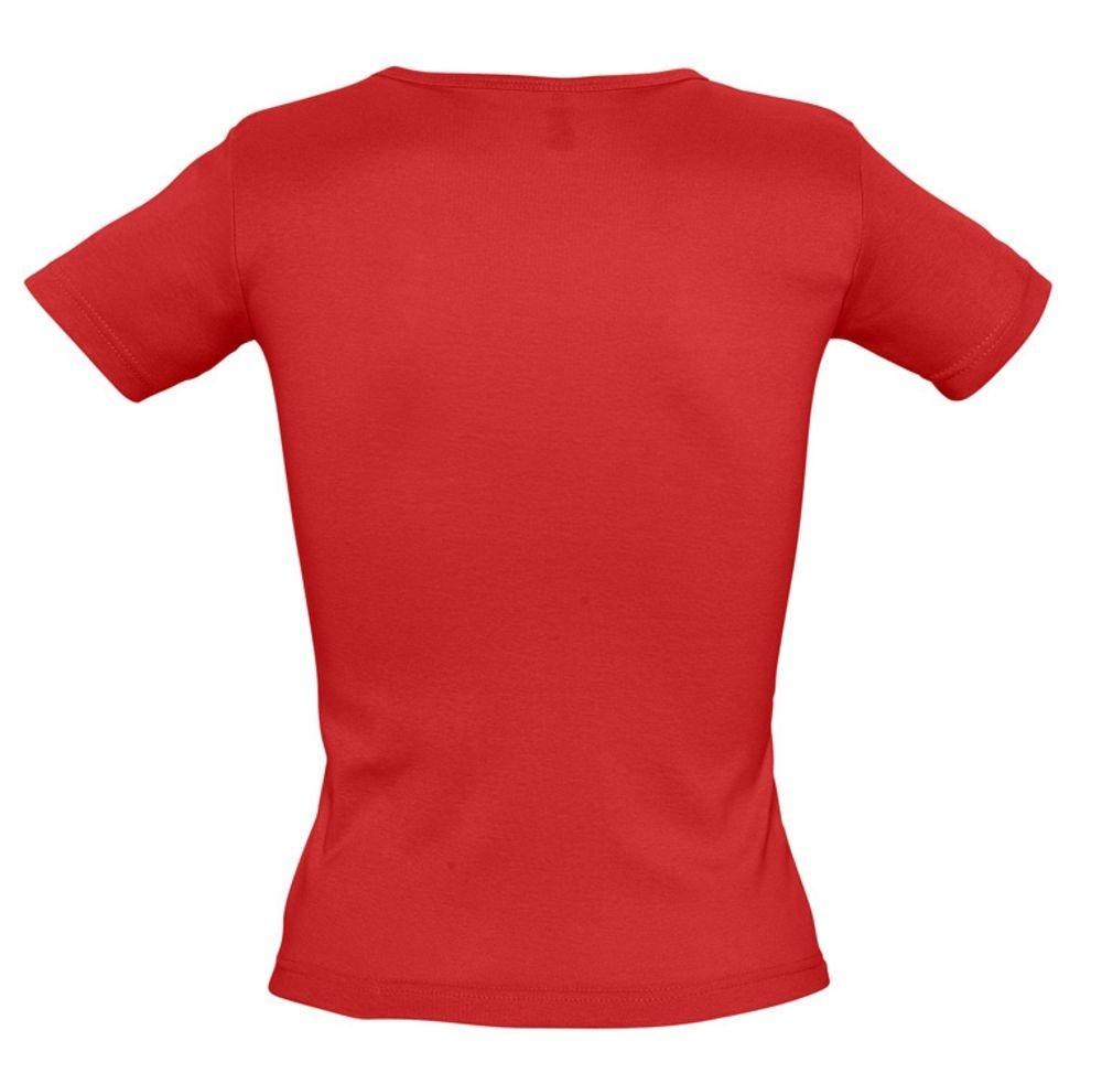 Футболка женская LADY 220 с V-обр. вырезом, красная