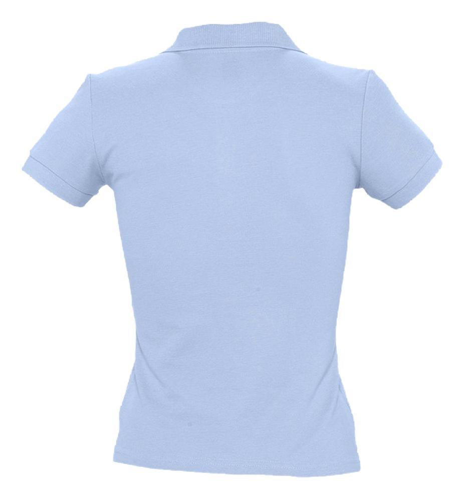 Рубашка поло женская PEOPLE 210, голубая