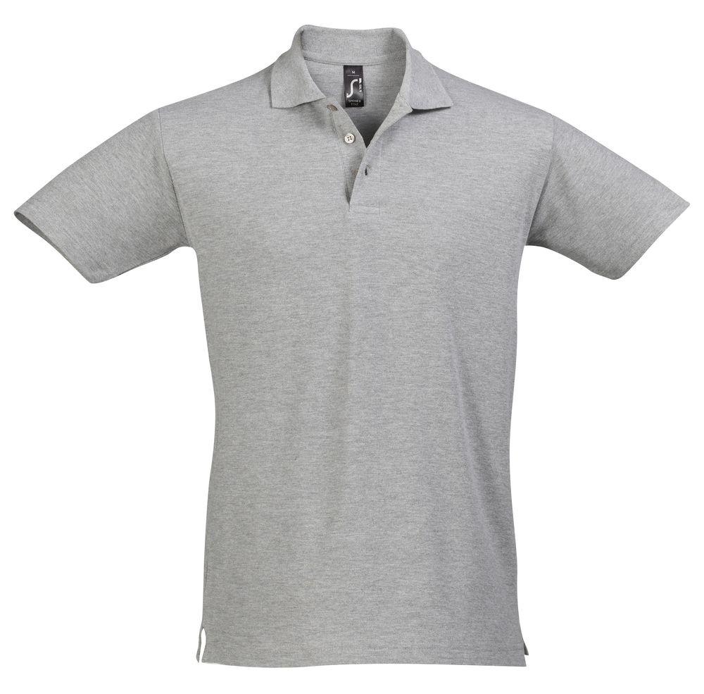 Рубашка поло мужская SPRING 210, серый меланж