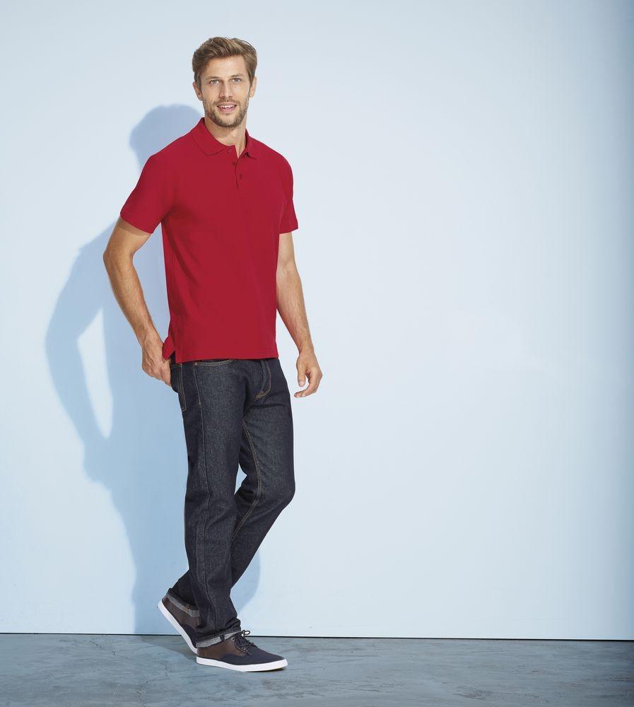 Рубашка поло мужская SUMMER 170, темно-коричневая (шоколад)