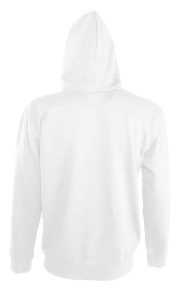 Толстовка мужская Soul men 290 с контрастным капюшоном, белая